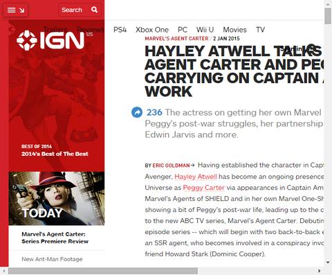 ドラマ「エージェント・カーター」でペギー・カーターを演じるヘンリー・アットウェルのインタビュー!