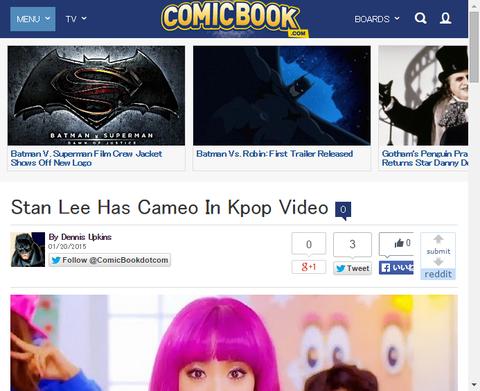 スタン・リーがKPOPのミュージックビデオにカメオ出演!
