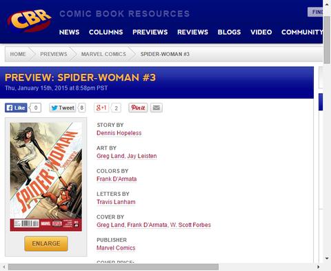 彼女の死が任務成功を意味するとしたら!?スパイダーウーマン #3のプレビュー画像が更新!