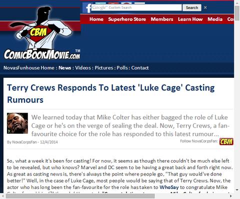 テリー・クルーズは最新の噂の「ルーク・ケイジ」の俳優に応える!
