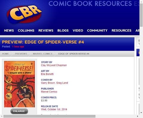 エッジ・オブ・スパイダーバース #4のプレビュー!