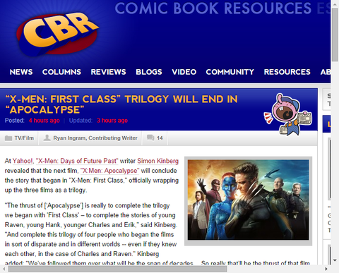 「X-MEN:ファースト・クラス」三部作は「アポカリプス」で終わることが言及される!