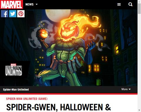 ゲーム「スパイダー・アンリミテッド」にスパイダー・グウェンにハロウィンがやってくる!