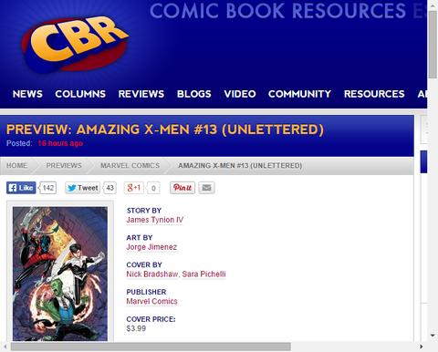 アメイジング・X-MEN #13の新たなプレビュー画像が更新!