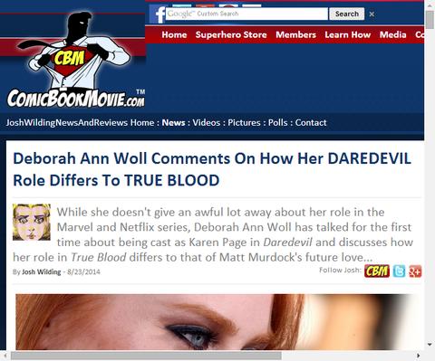 デボラ・アン・ウォールがデアデビルで演じる役どころについてコメントする!