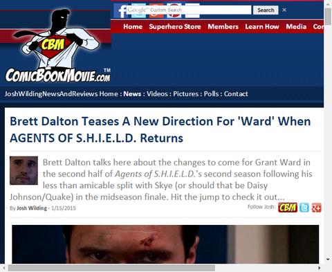 ドラマ「エージェント・オブ・シールド」が戻ってくる時、ブレッド・ドルトンは新しい方向の「ウォード」を話す!