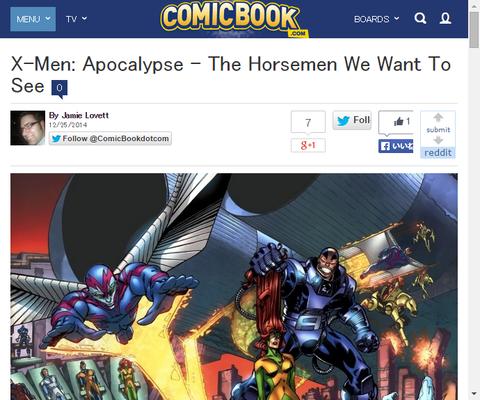 映画「X-MEN:アポカリプス」に我々が欲しいホースメンのリスト!