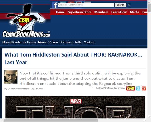 トム・ヒドルストンが与える映画「ソー:ラグナロク」のヒントとは!?