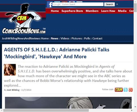 ドラマ「エージェント・オブ・シールド」のエイドリアン・パリッキは「モッキンバード」と「ホークアイ」とより多くを話す!