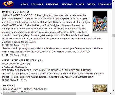アベンジャーズの歴史を振り返るフリーマガジン!アベンジャーズ・マガジン #1のプレビュー!