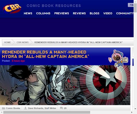 リック・リメンダーは「オールニュー・キャプテン・アメリカ」でハイドラを作り直す!