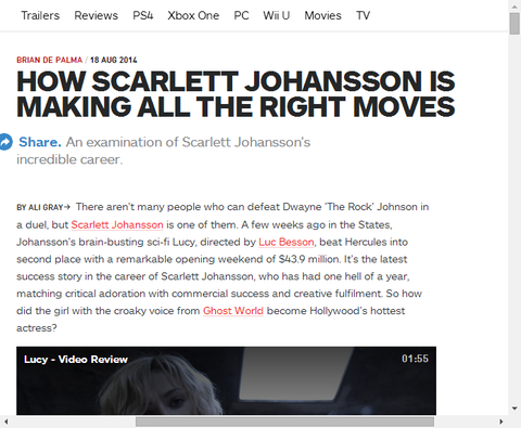 ブラック・ウィドウを演じるスカーレット・ヨハンソンの特集記事が!