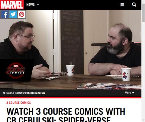 C.B.セブルスキーの3コース・コミックのスパイダーバースをイメージした3品目のアイスが公開!
