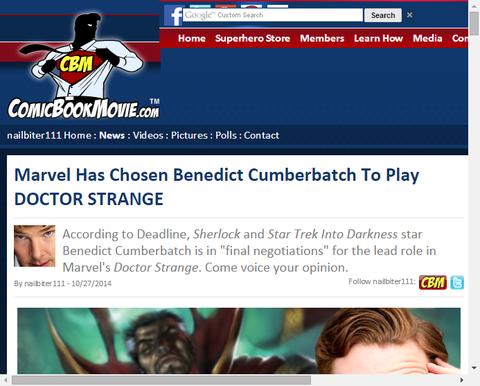 マーベルはドクター・ストレンジ役にベネディクト・カンバーバッチを選んだ!