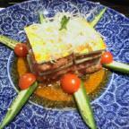 豆腐とマグロのミルフィーユ