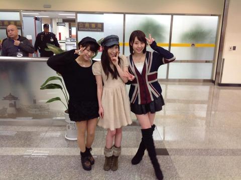 【速報】はーちゃん、らんらん、れいにゃんが台湾で番組収録を行った模様【片山陽加&藤江れいな&山内鈴蘭/AKB48】