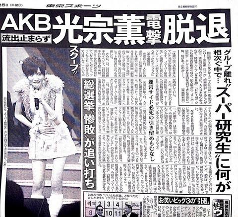 【AKB48/光宗薫】突然の辞退※真相※ファンの反応、想い、メッセージ