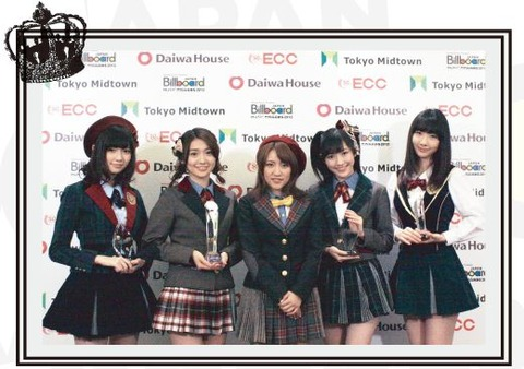 Billboard Japan Artist of the Year 2012 にAKB48!【AKB48/ニュース】