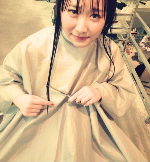 「断髪式」仁藤萌乃、髪を切る!【AKB48/仁藤萌乃】