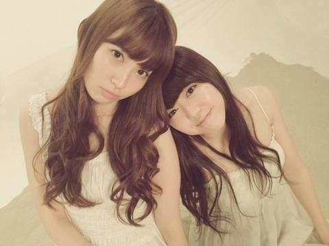 【AKB48/小嶋陽菜&峯岸みなみ】にゃんみぃって本当に仲良しだよな