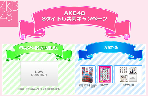【AKB48】AKB写真会(リクアワ観覧付)キャンペーン!