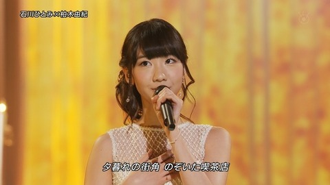 【AKB48/柏木由紀】FNS歌謡祭の柏木由紀 「緊張で倒れそうだった」