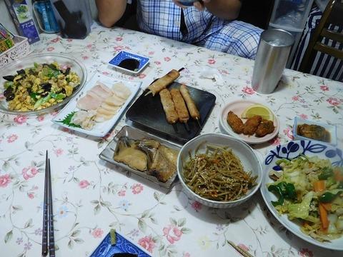 7月28日の夕食