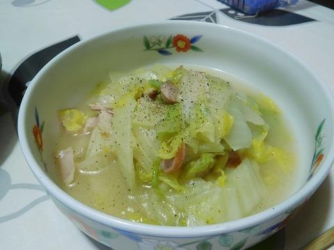 白菜のベーコンスープ煮