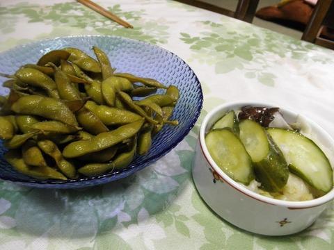 枝豆&糠漬け