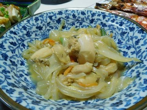 女郎貝と野菜煮