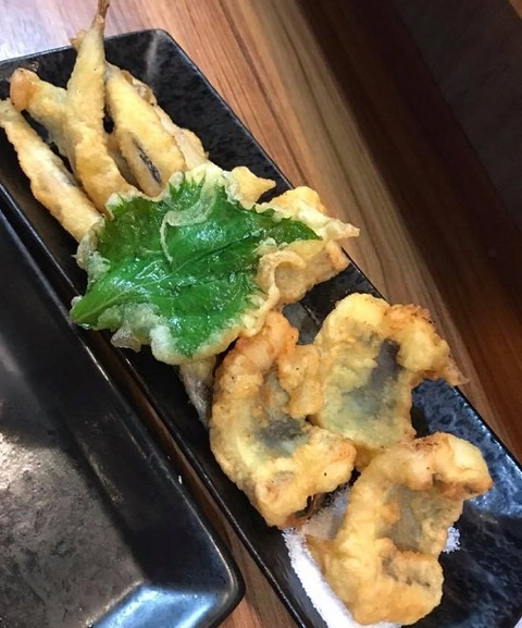 鱧ときびなごの天ぷら