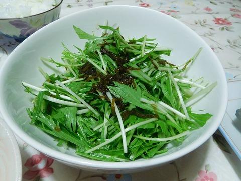 もずくと水菜のサラダ