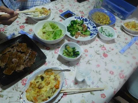 8月9日の夕食