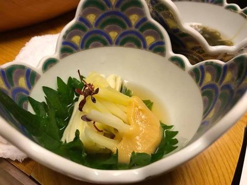 黄ニラの酢味噌和え