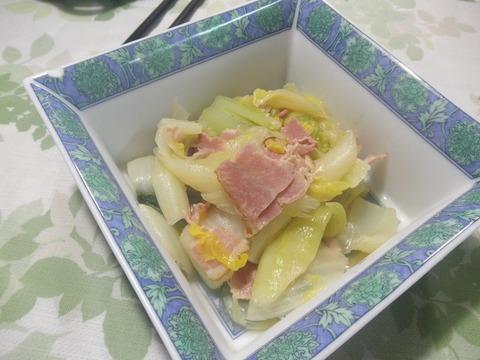 白菜のベーコン煮