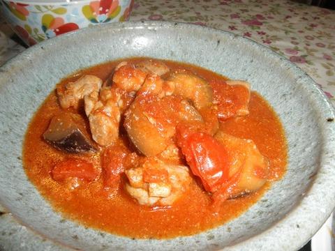 チキンと茄子のトマト煮