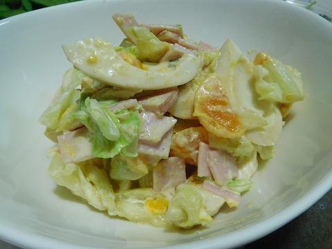 煮卵入りサラダ