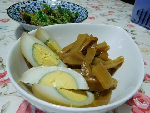 煮卵&メンマ