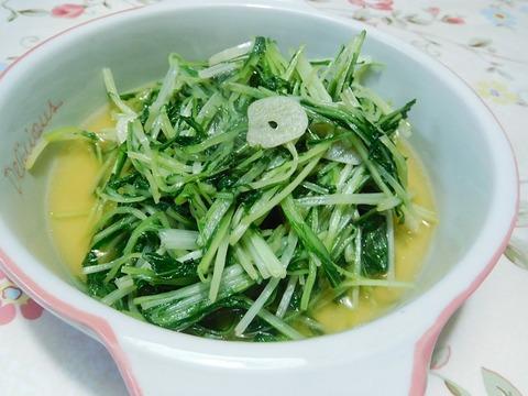 水菜のガーリック炒め