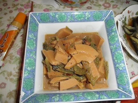 筍と蕗と身欠きにしんの味噌煮