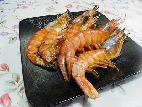 海老の塩焼き