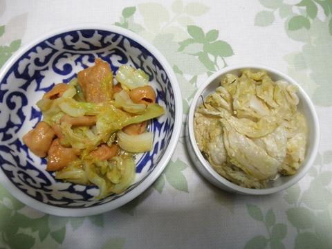 ホルモン炒め&&白菜づけ