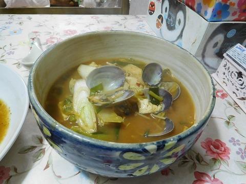 海鮮キムチスープ