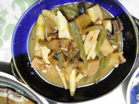 山菜と身欠きにしんの味噌煮