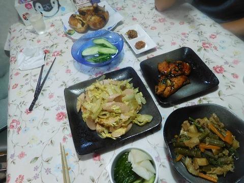 8月3日の夕食