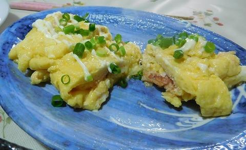 モッラレラチーズと明太子入り卵焼き