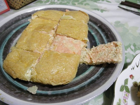 明太ポテサラの揚げ包み焼き