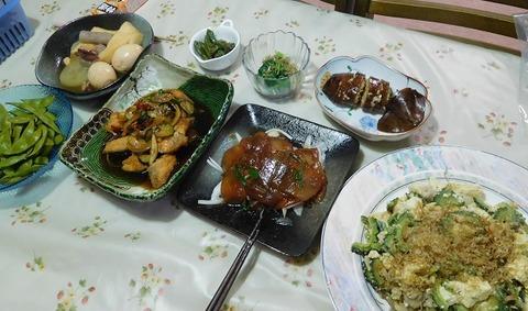 8月7日の夕食