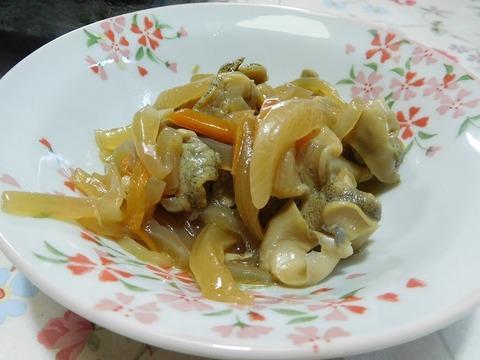 つぶ貝の野菜煮