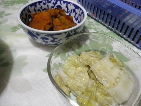 かぼちゃ煮&白菜漬け
